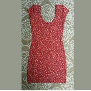 Red bodycon low cut neck  mini dress Kimchi blue